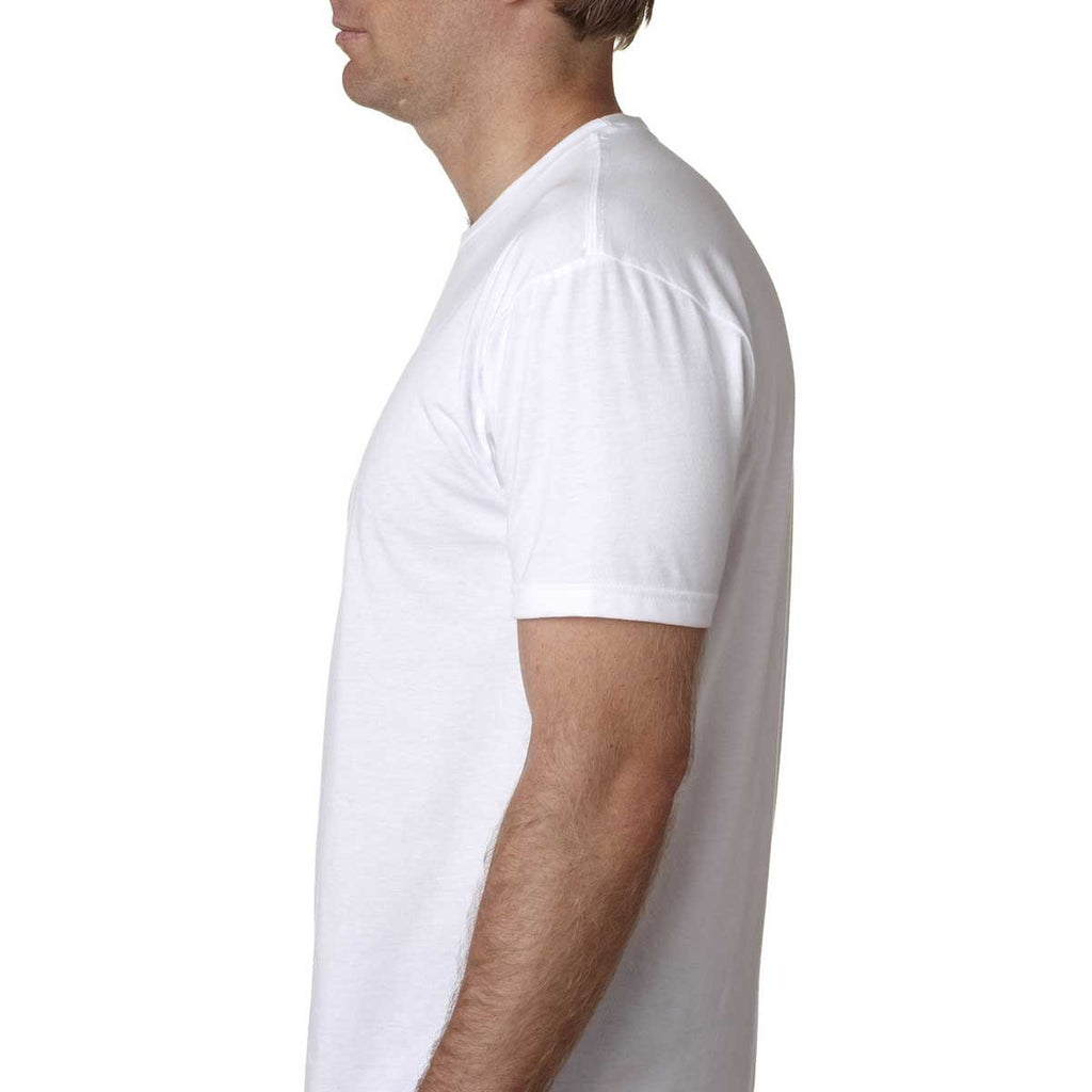 Next Level Men's White Premium Fitted CVC Crew Tee