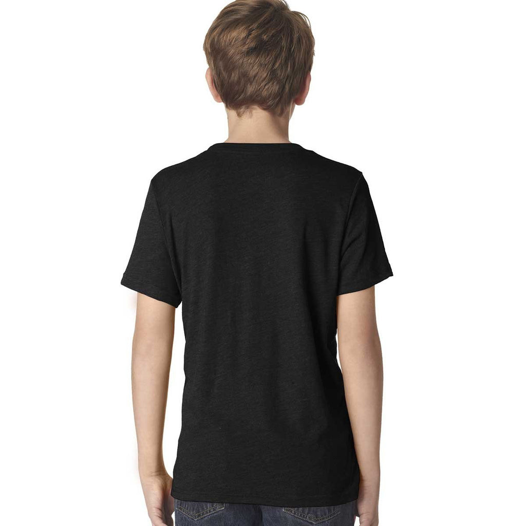 Next Level Boy's Vintage Black Triblend Crew Tee