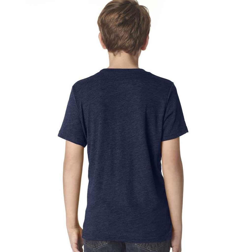 Next Level Boy's Vintage Navy Triblend Crew Tee