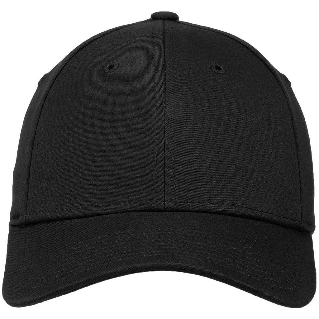 New Era 39THIRTY Black Structured Stretch Cotton Cap
