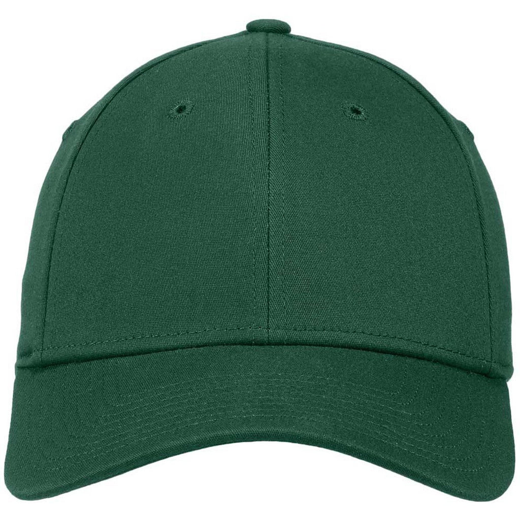 New Era 39THIRTY Dark Green Structured Stretch Cotton Cap