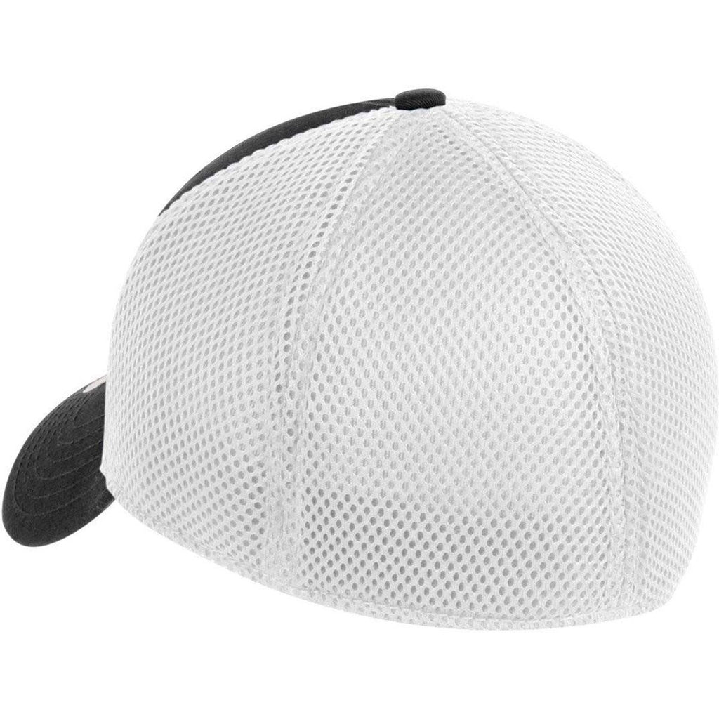 New Era 39THIRTY Black/White Stretch Mesh Cap