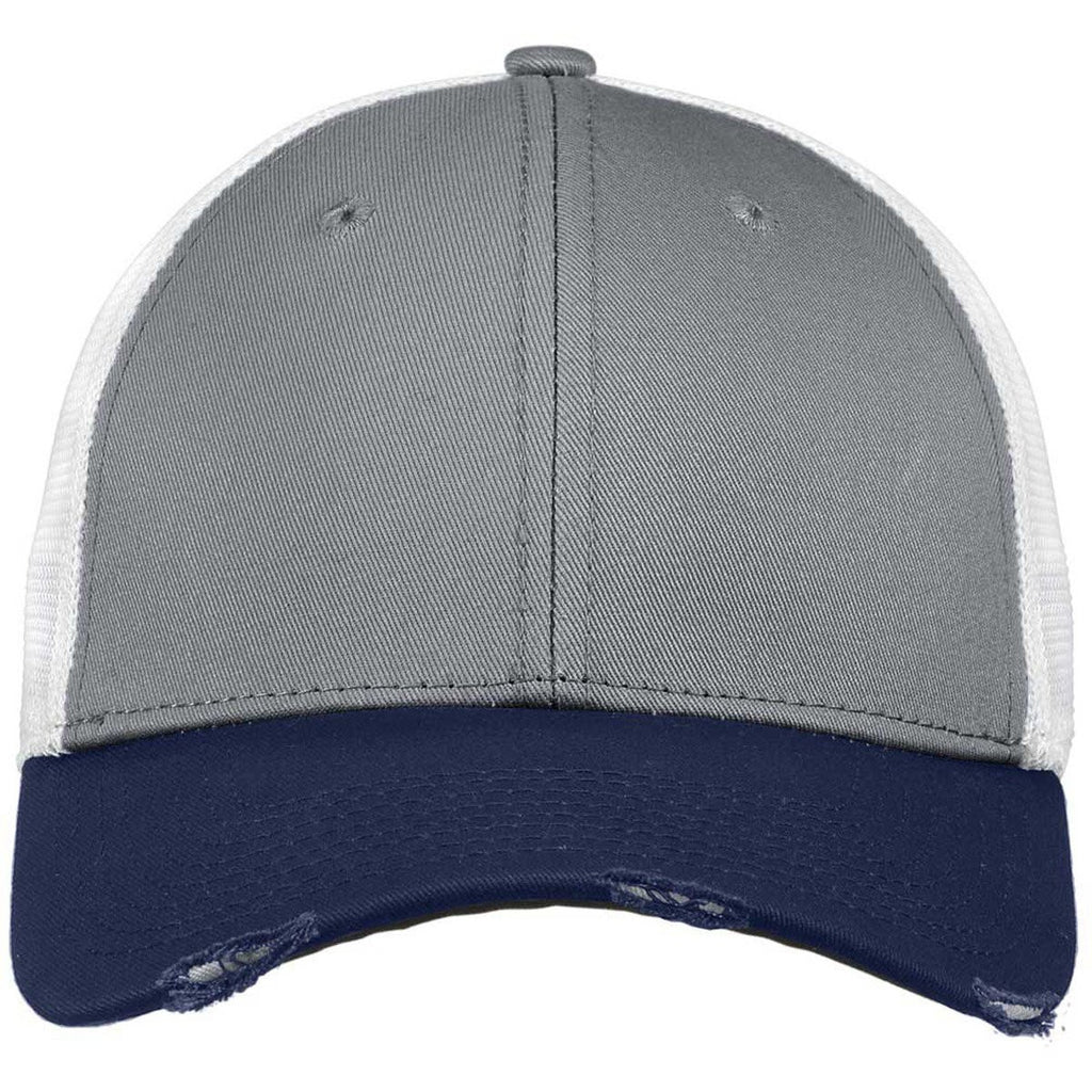 New Era Deep Navy/Grey/White Vintage Mesh Cap