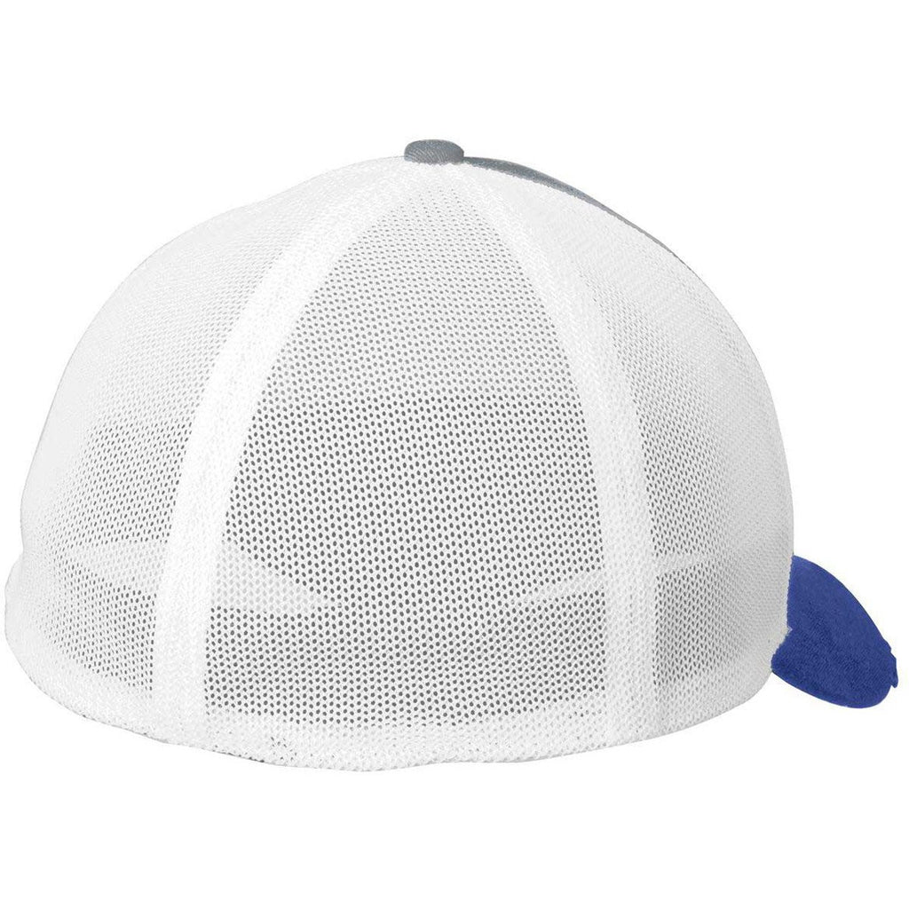 New Era Royal/Grey/White Vintage Mesh Cap