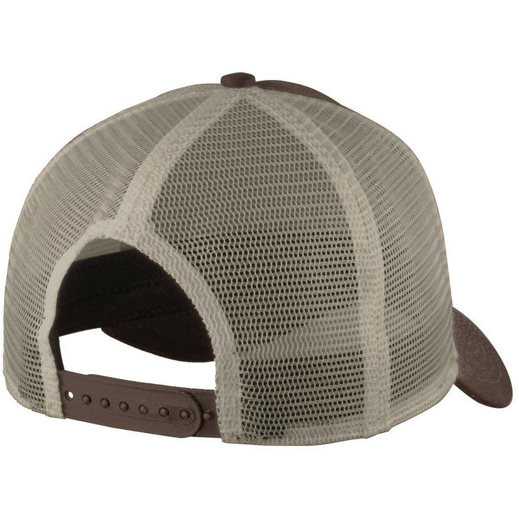 New Era Chocolate/Khaki Snapback Mesh Back Trucker Cap
