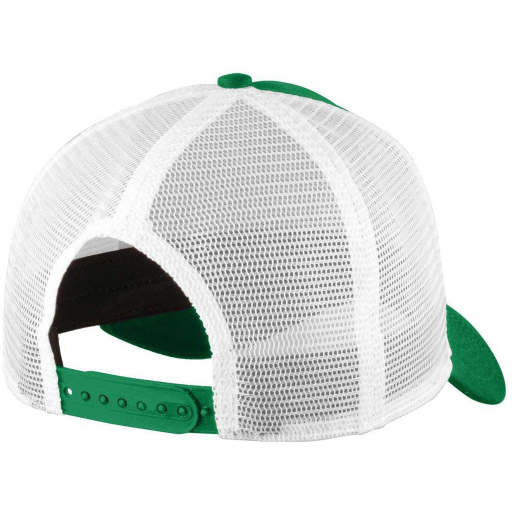 New Era Kelly/White Snapback Mesh Back Trucker Cap