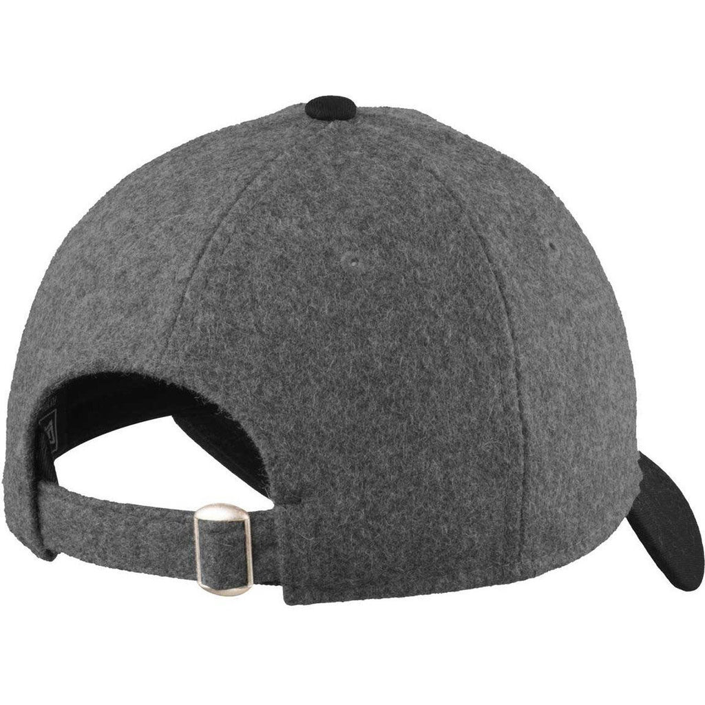 New Era 9TWENTY Graphite Heather/Black Melton Wool Heather Cap