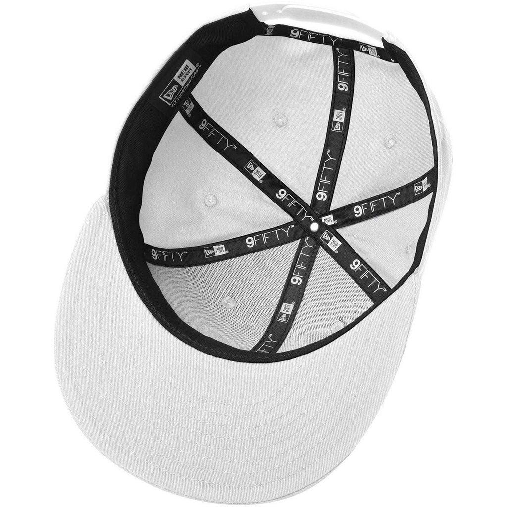 New Era 9FIFTY White Flat Bill Snapback Cap