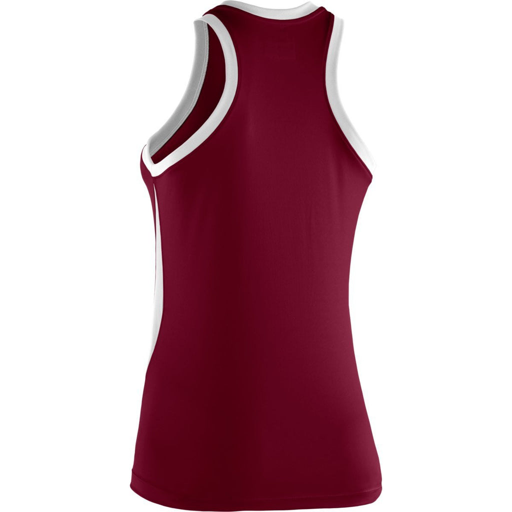 Under Armour Women's Maroon Recruit Sleeveless T-Shirt