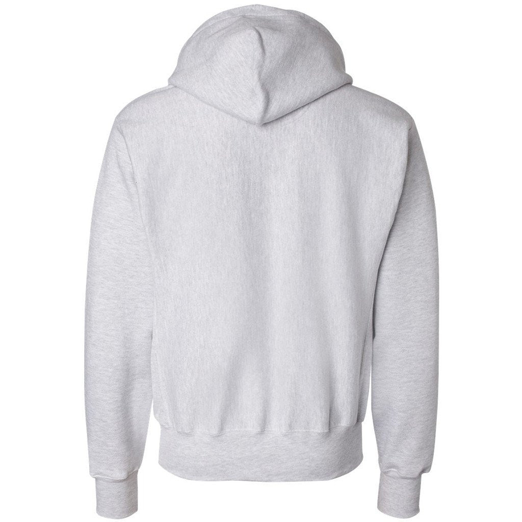 Champion Men's Silver Grey Reverse Weave 12-Ounce Pullover Hood