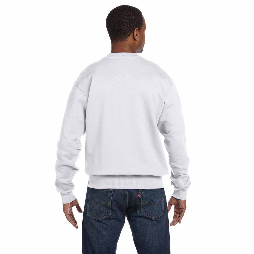 Champion Men's White Heather for Team 365 Cotton Max 9.7-Ounce Crew