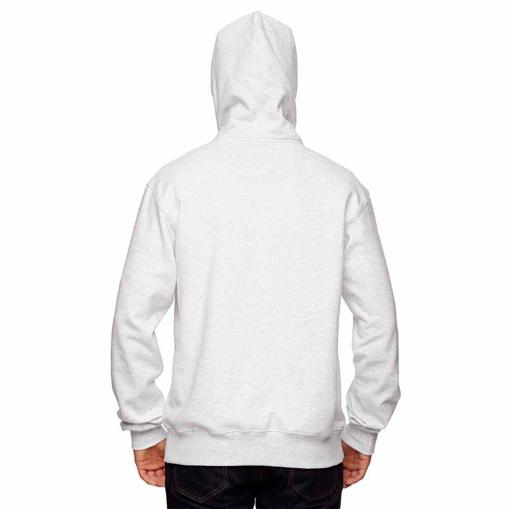 Champion Men's White Heather for Team 365 Cotton Max Fleece Quarter-Zip Hood