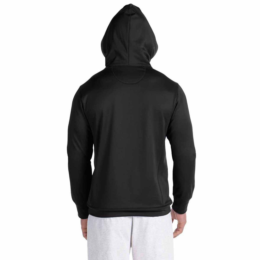 Champion Men's Black/Black Performance 5.4-Ounce Colorblock Pullover Hood