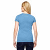 Champion Women's Sport Light Blue for Team 365 Vapor Cotton Short-Sleeve V-Neck