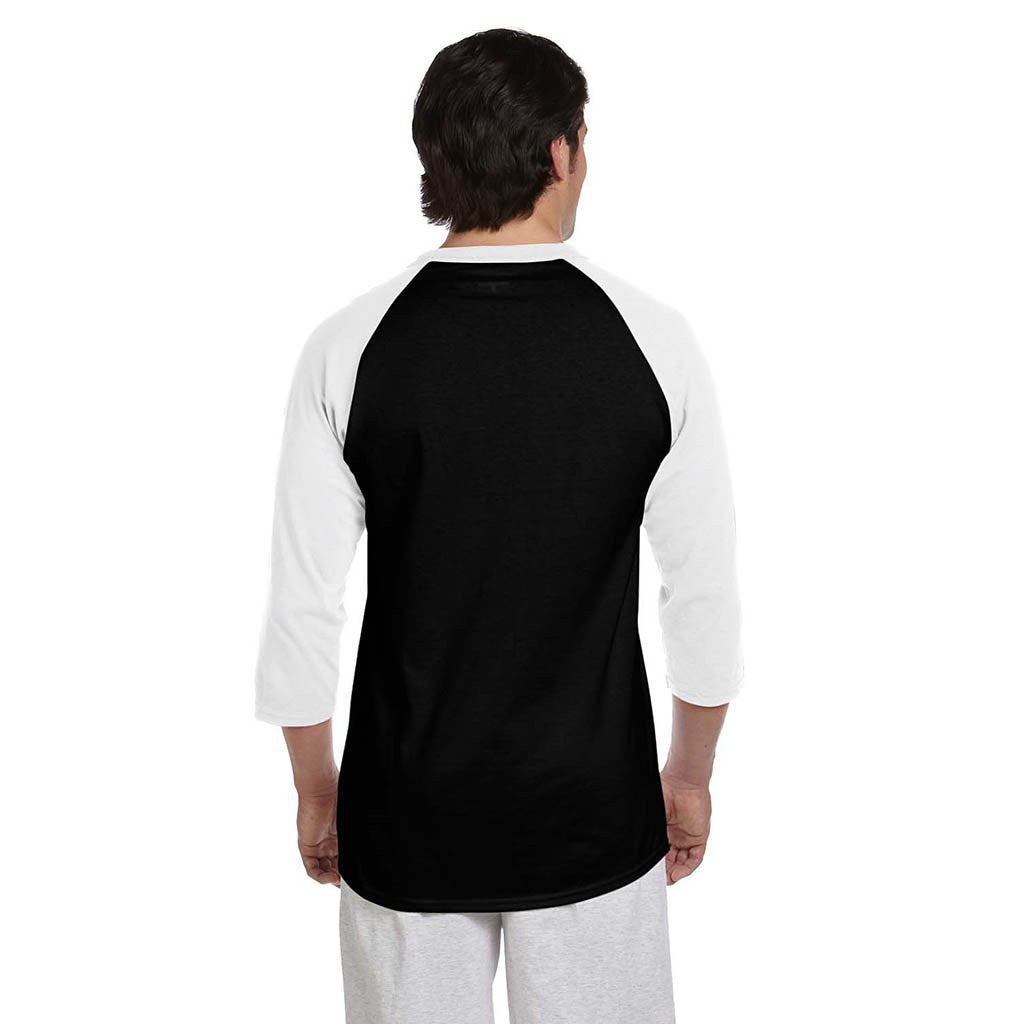 Champion Men's Black/White Baseball T-Shirt