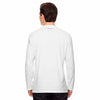 Champion Men's White Vapor Cotton Long-Sleeve T-Shirt