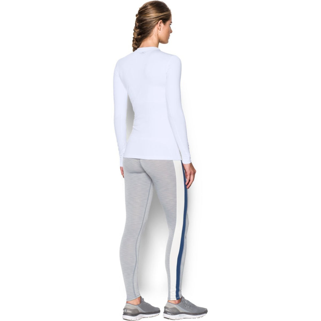 Under Armour Women's White ColdGear Fitted L/S Crew