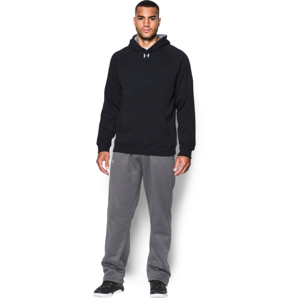 Under Armour Men's Black Rival Fleece Hoodie