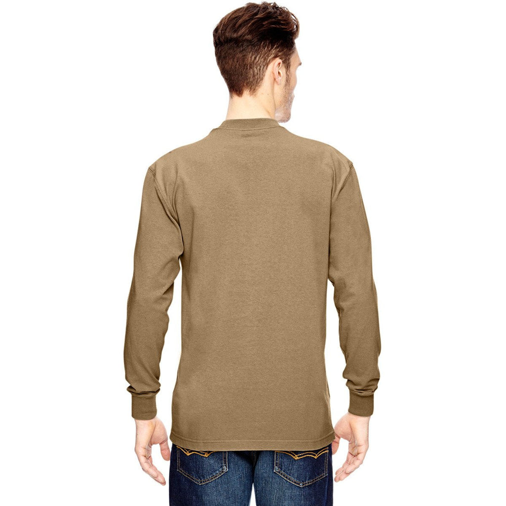 Dickies Men's Desert Sand 6.75 oz.Heavyweight Work Long-Sleeve Tall Work T-Shirt