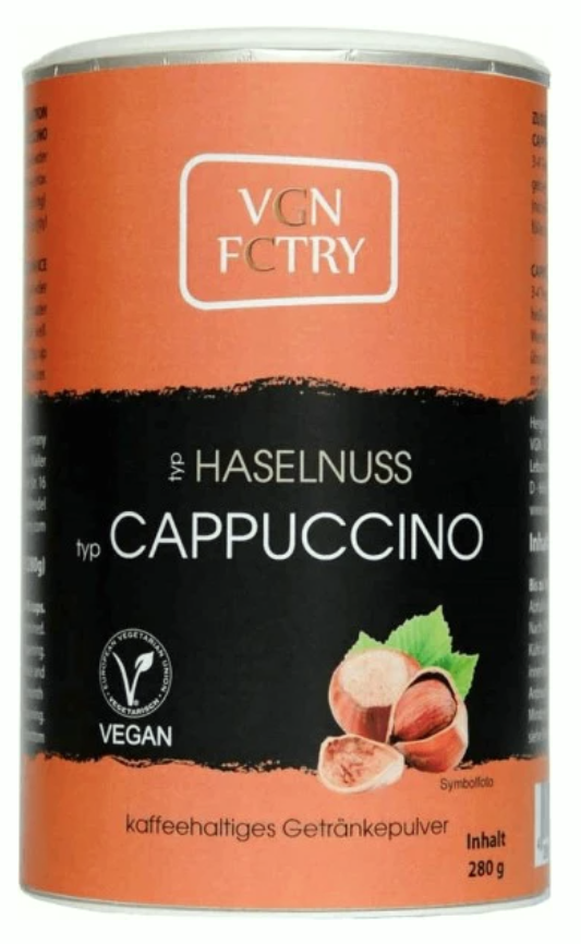 VGN FCTRY Hazelnut Cappuccino Mix 280g
