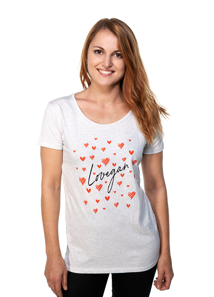 Lovegan Open Neck Tee