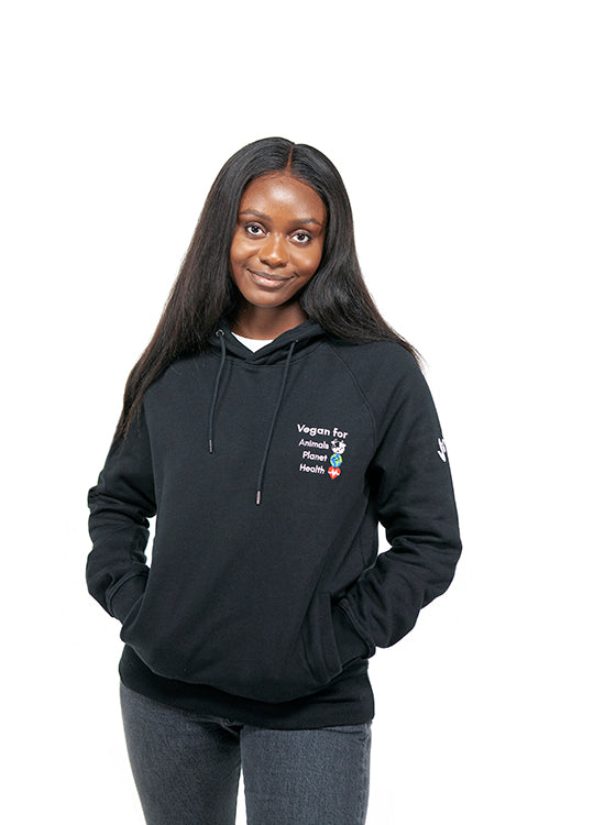 Vegan For… Unisex Hoody- Black