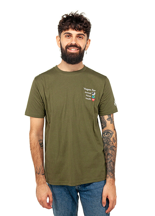 Vegan For… Men's Classic Jersey Tee-Moss Green