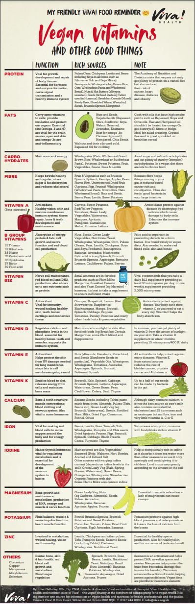 Vegan Vitamins Wallchart