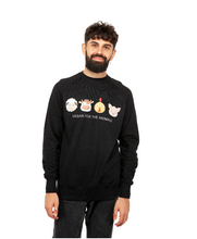 Vegan For The Animals Unisex Raglan Jumper- Black