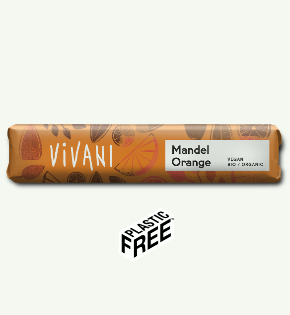 Vivani Mandel Orange Chocolate Bar 35g