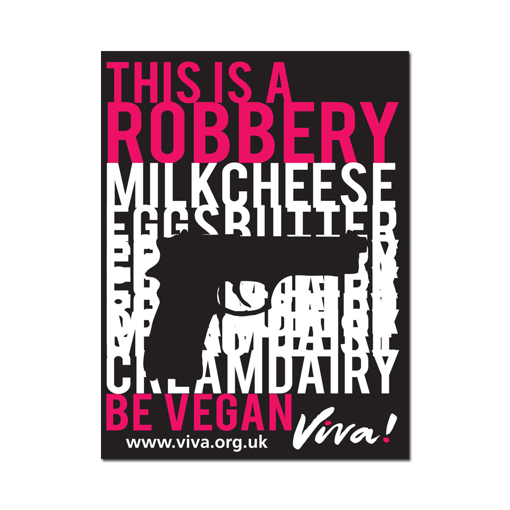 This is a Robbery Vinyl Sticker