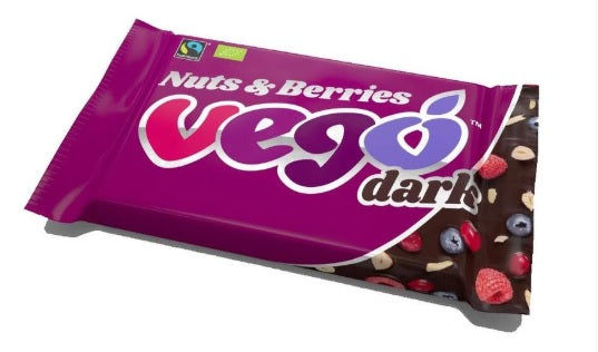 Vego Organic Dark Nuts & Berries Chocolate Bar