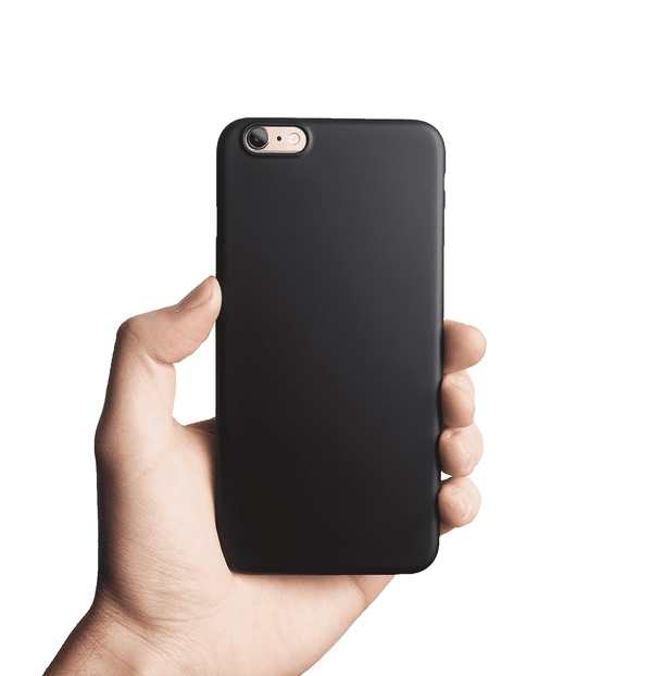 Supertunt iPhone 6s Plus skal - Solid black