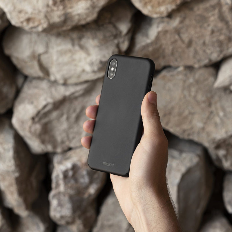 Tunt iPhone X Designskal V2  - Stealth Black