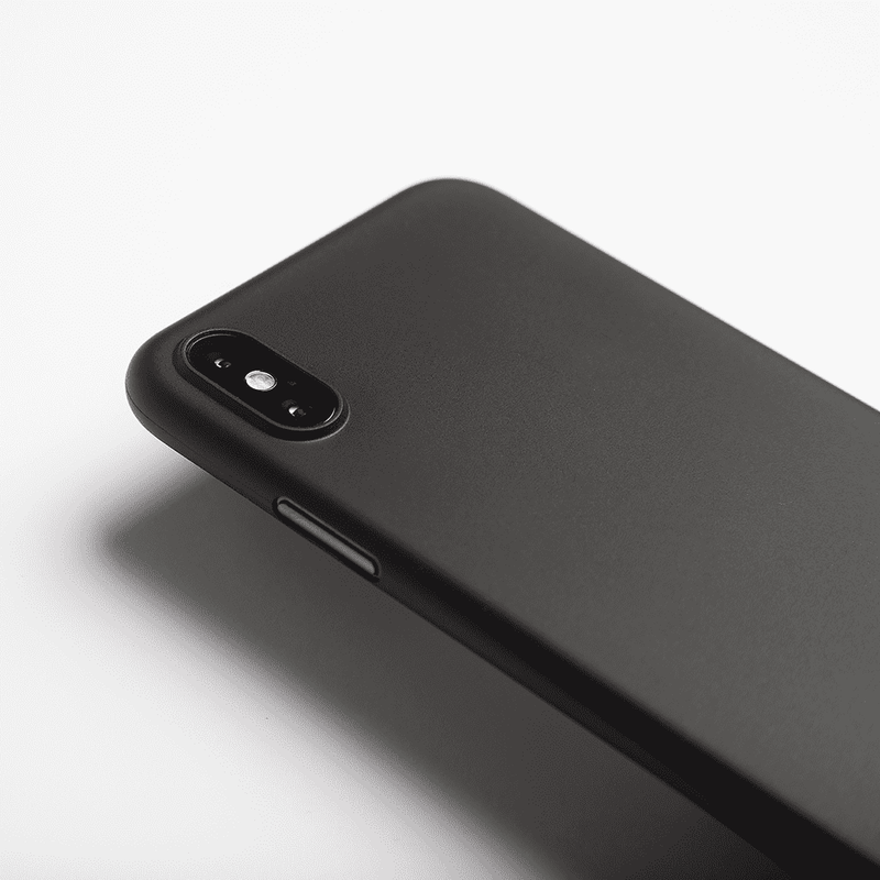 Supertunt iPhone X skal - Solid black