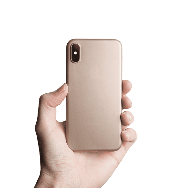 Supertunt iPhone X V1 skal - Gold
