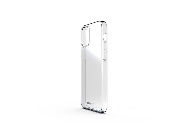 Nudient - Tunt glansigt iPhone 12 Mini skal - 100% transparent