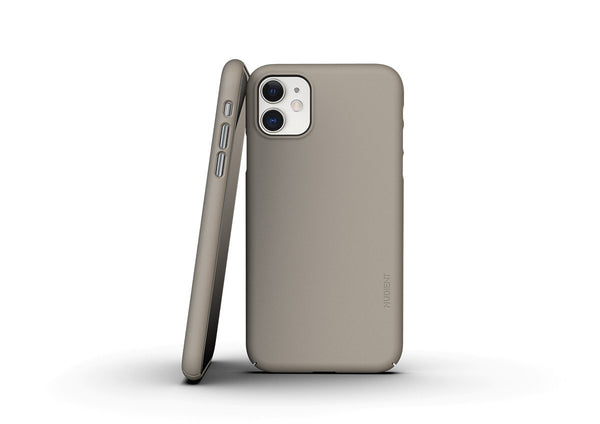 Nudient - Tunt iPhone 11 Skal V3 - Clay Beige