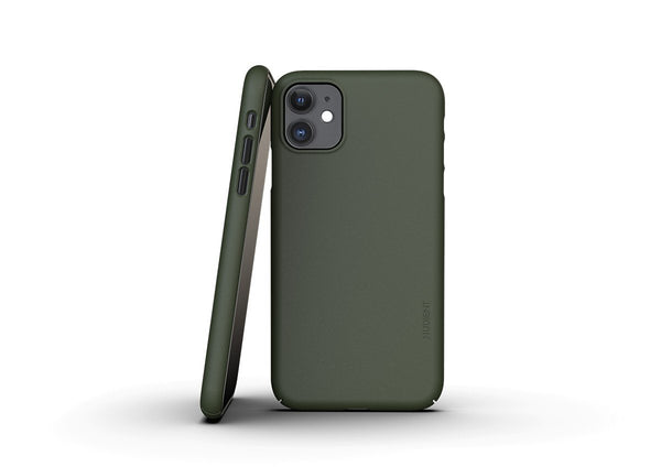 Nudient - Tunt iPhone 11 Skal V3 - Pine Green