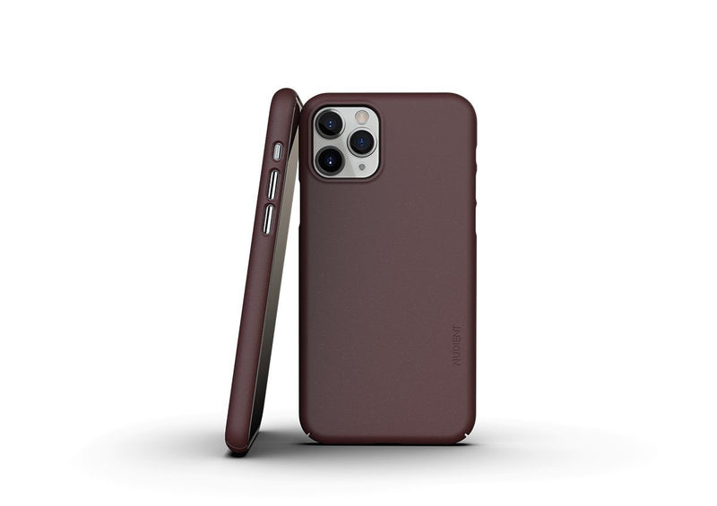 Nudient - Tunt iPhone 11 Pro Skal V3 - Sangria Red
