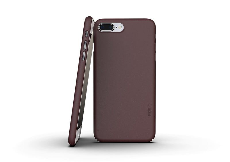Nudient - Tunt iPhone 7/8 Plus Skal V3 - Sangria Red