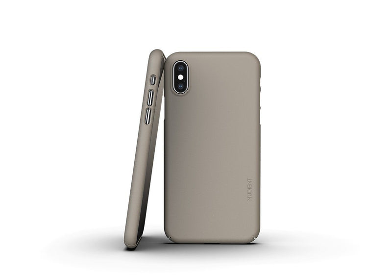 Nudient - Tunt iPhone XS Skal V3 - Clay Beige
