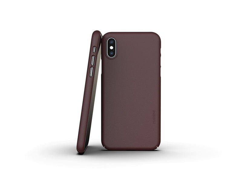 Nudient - Tunt iPhone XS Skal V3 - Sangria Red