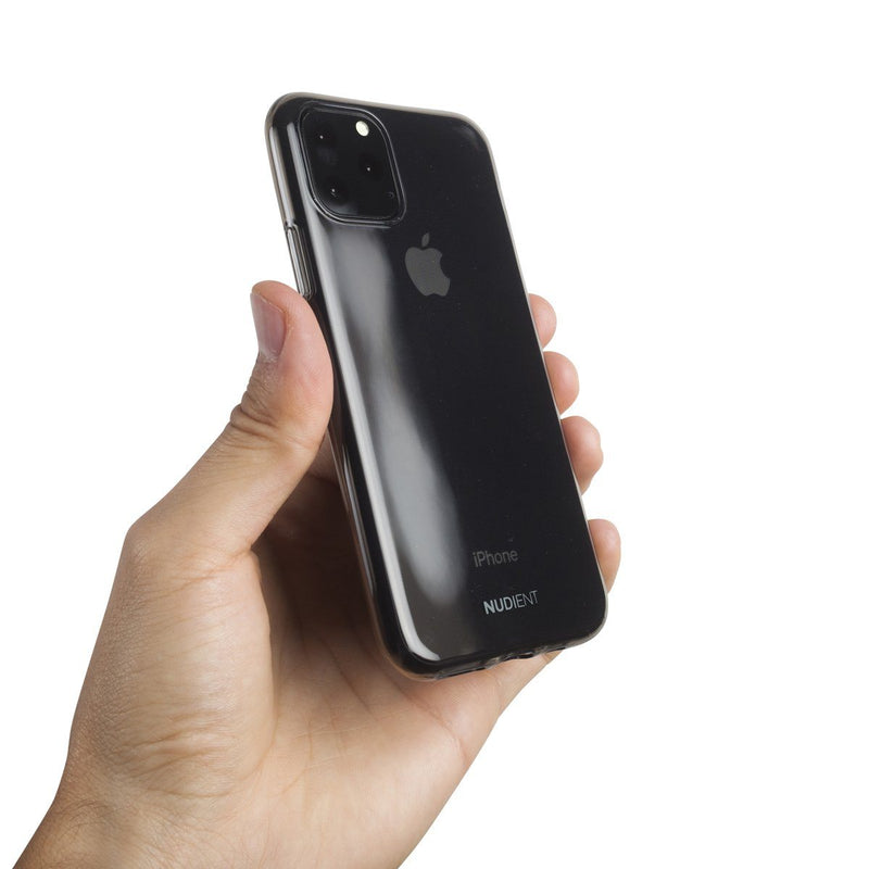 Tunt glansigt iPhone 11 6,1 skal - Black transparent
