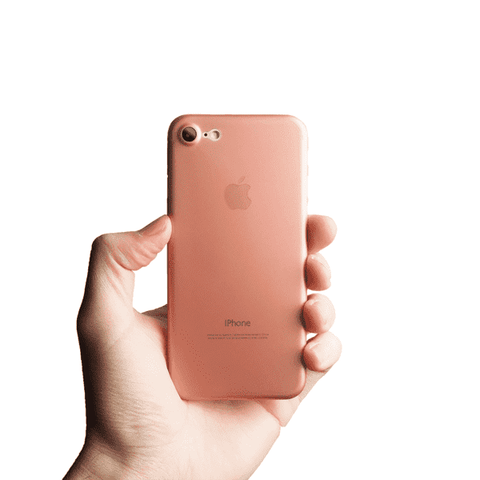Supertunt iPhone 7 skal - Rosé transparent