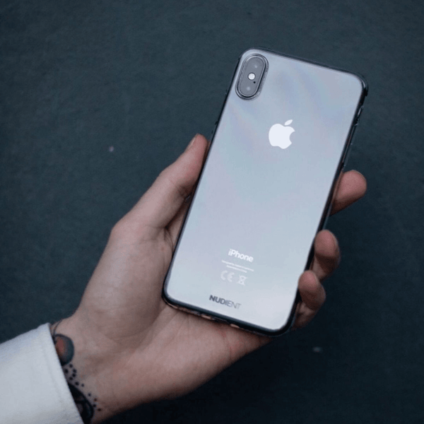 Tunt glansigt iPhone X skal  - 100% transparent