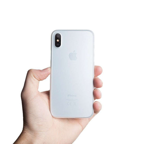 Supertunt iPhone X skal - Frosted transparent