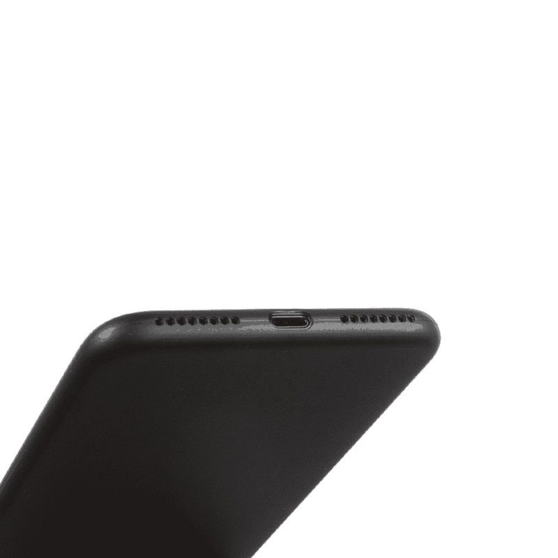 Supertunt iPhone 8 plus skal - Solid black