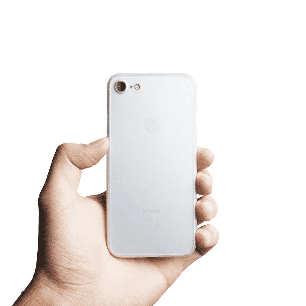 Supertunt iPhone 7 skal - Frosted transparent