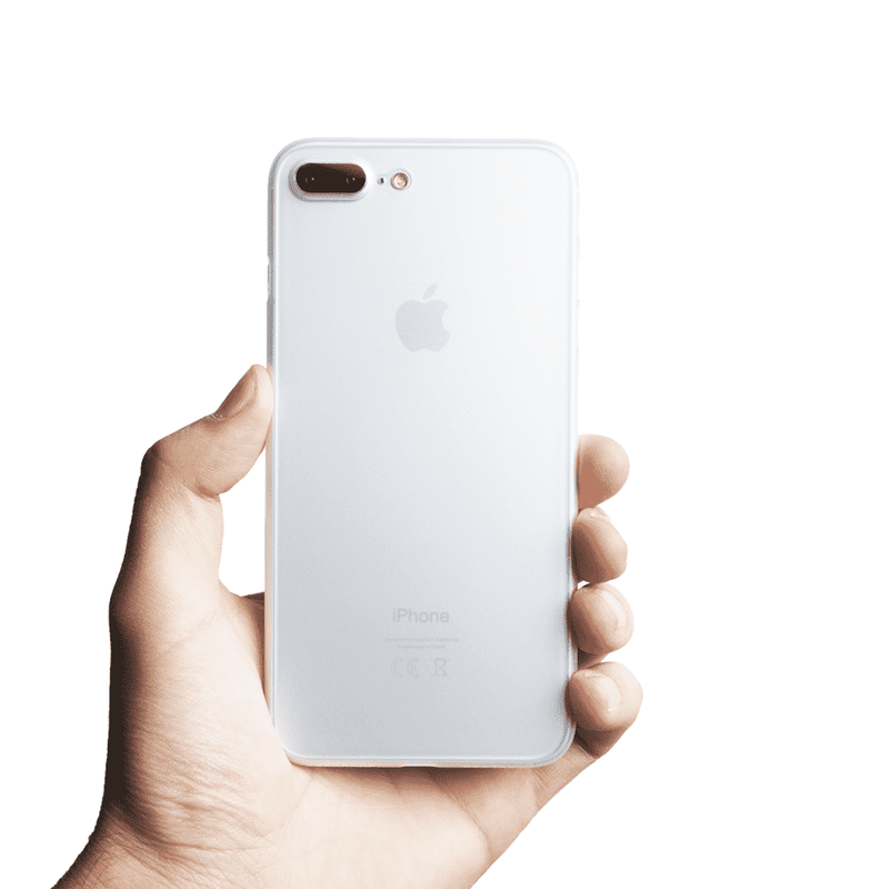 Supertunt iPhone 8 Plus skal - Frosted transparent